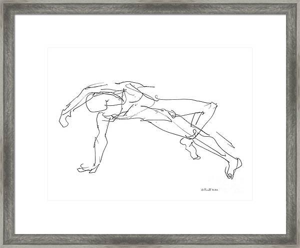 Nude_male_drawings_23 Framed Print