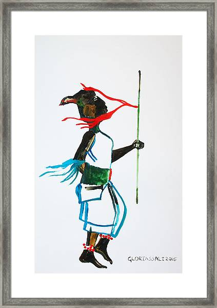 Nuer Dance - South Sudan Framed Print