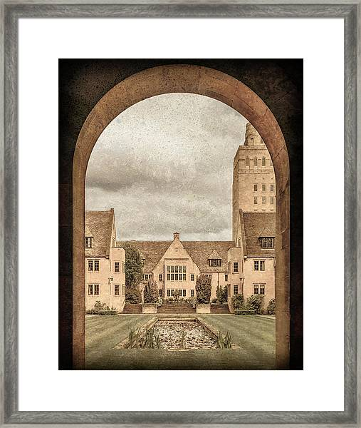 Framed Print featuring the photograph Oxford, England - Nuffield College by Mark Forte