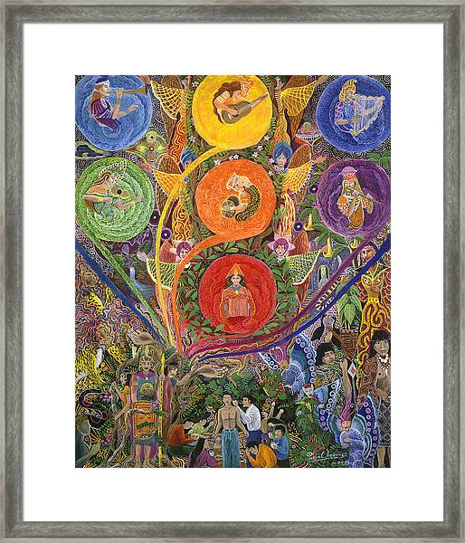 Framed Print featuring the painting Nukno Maschashka  by Pablo Amaringo