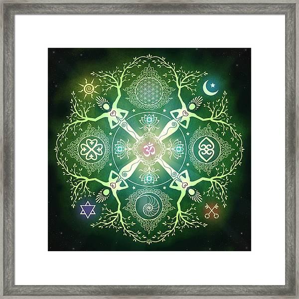 Numinosity Mandala Framed Print by Cristina McAllister