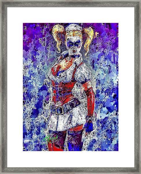 Nurse Harley Quinn Framed Print