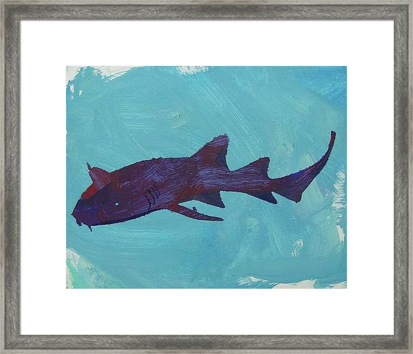 Framed Print featuring the painting Nurse Shark by Candace Shrope