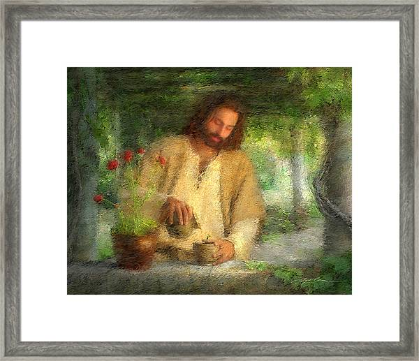 Nurtured By The Word Framed Print