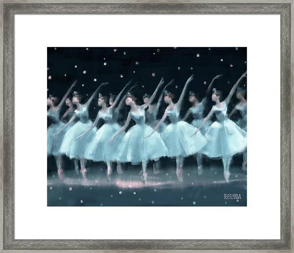 Nutcracker Ballet Waltz Of The Snowflakes Framed Print