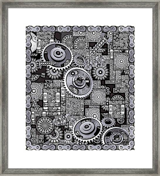 Framed Print featuring the digital art Nuts And Bolts by Eleni Mac Synodinos
