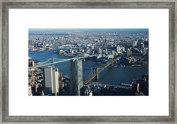Nyc Bridges Framed Print