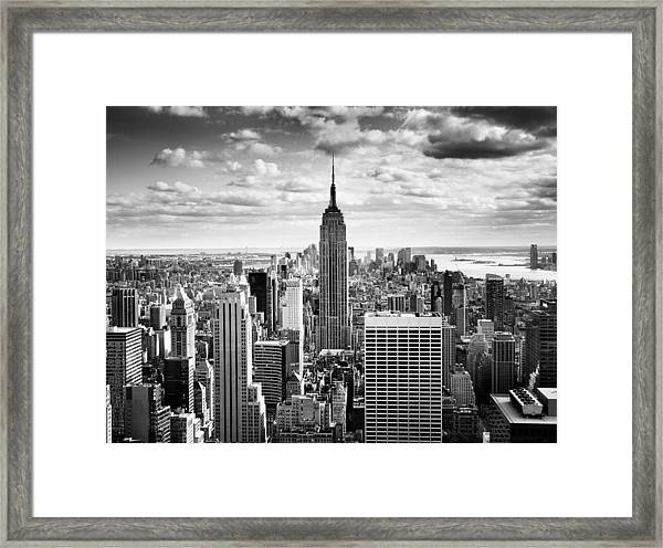 Nyc Downtown Framed Print