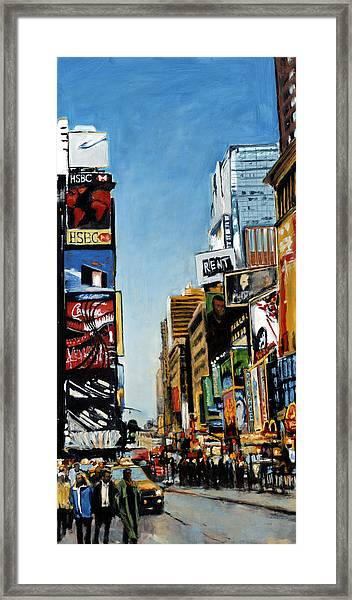 Nyc IIi Cab Dodging Framed Print