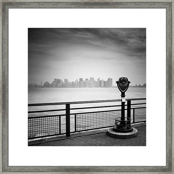 Nyc Manhattan View Framed Print