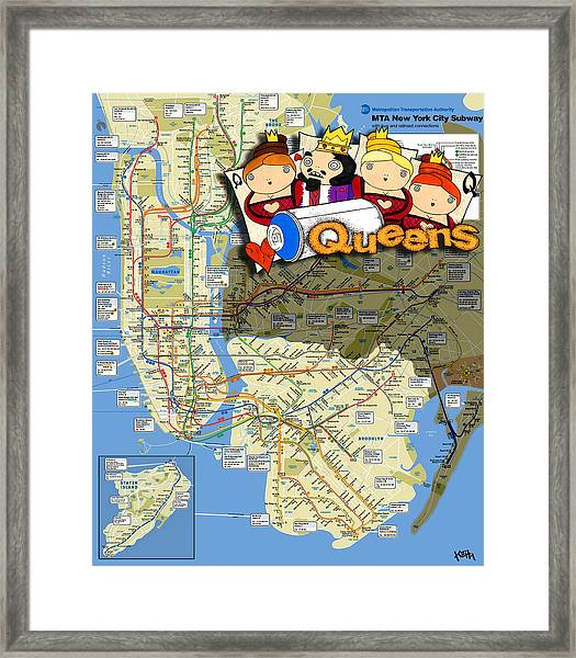 Queen Subway Map Nyc.Nyc Subway Map Queens By Turtle Caps