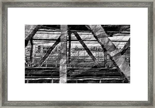 Nyc Train Bridge Tracts Framed Print