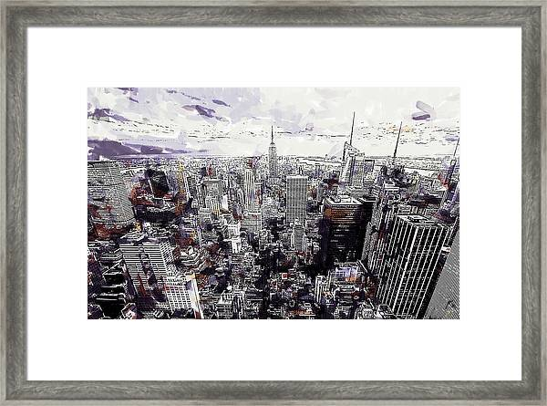Nyc View From Rockefeller Center Framed Print