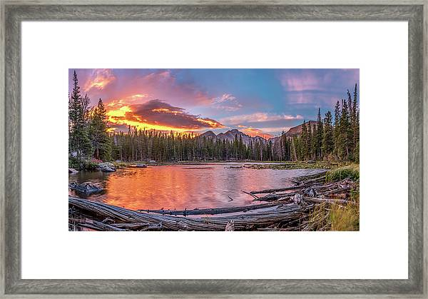Nymph Lake Sunrise Framed Print by Robert Yone
