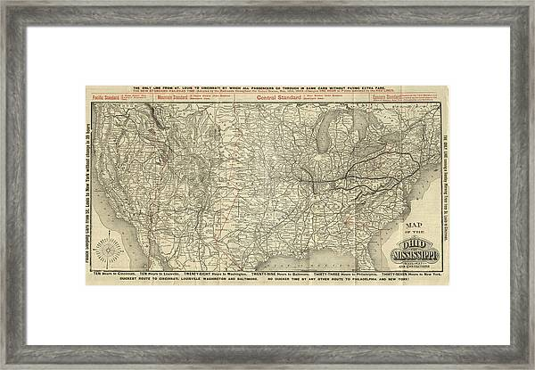 O And M Map Framed Print