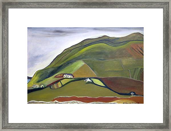 O Mountains That You Skip Framed Print