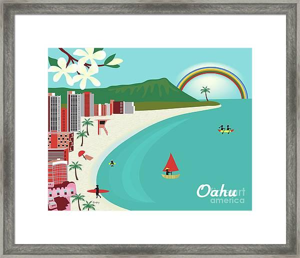 Oahu Hawaii Horizontal Scene Framed Print