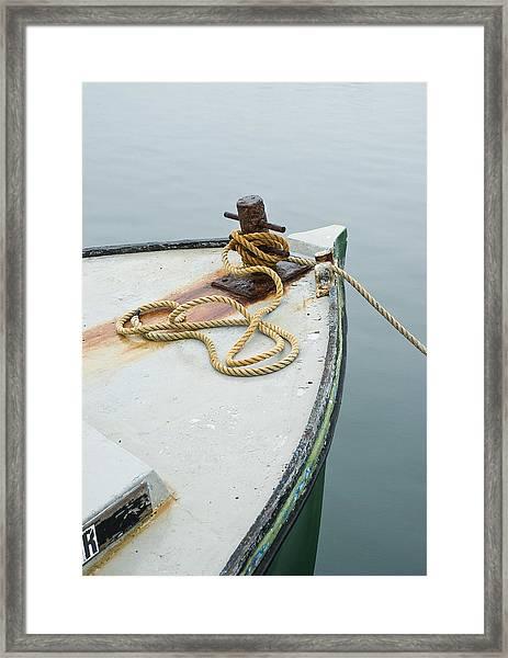 Oak Bluffs Fishing Boat Framed Print