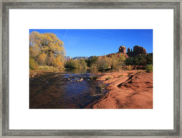 Oak Creek Autumn Framed Print