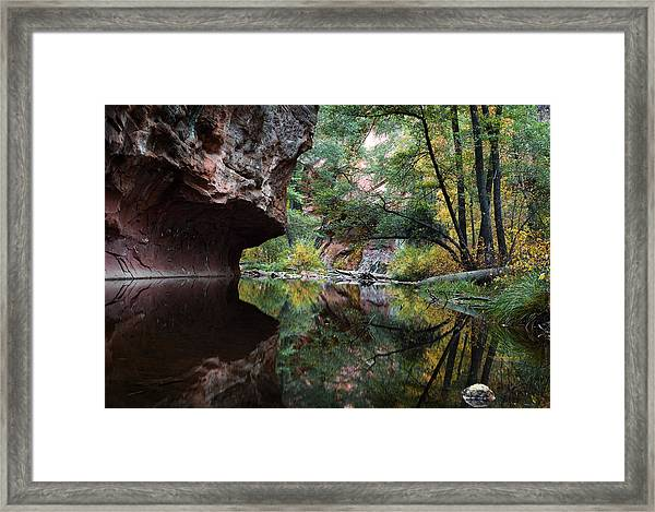 Oak Creek Canyon Reflections Framed Print