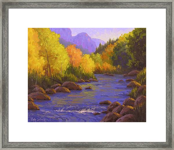 Oak Creek Color Show Framed Print