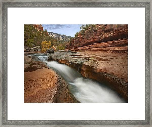 Oak Creek In Slide Rock State Park Framed Print