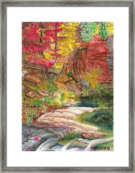 Oak Creek West Fork Framed Print