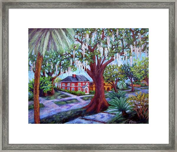 Oak Street Framed Print