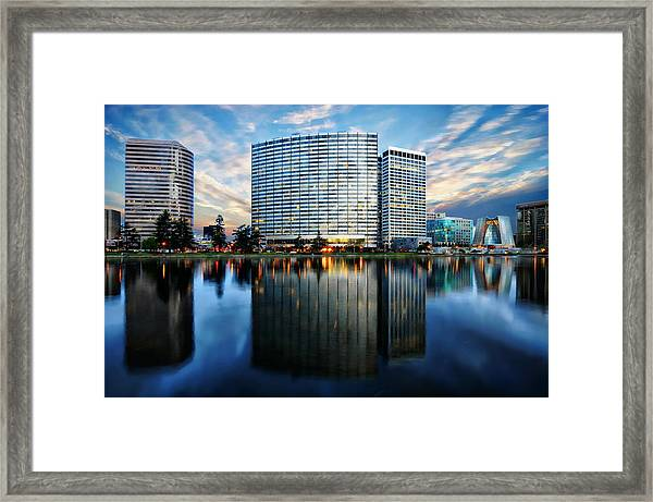 Oakland, California Cityscape Framed Print