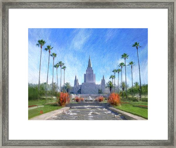 Oakland Temple No. 1 Framed Print
