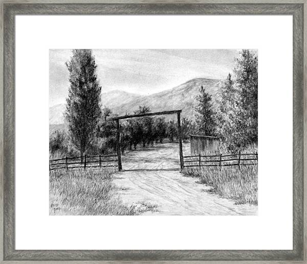 Oakley Ranch Entrance Framed Print