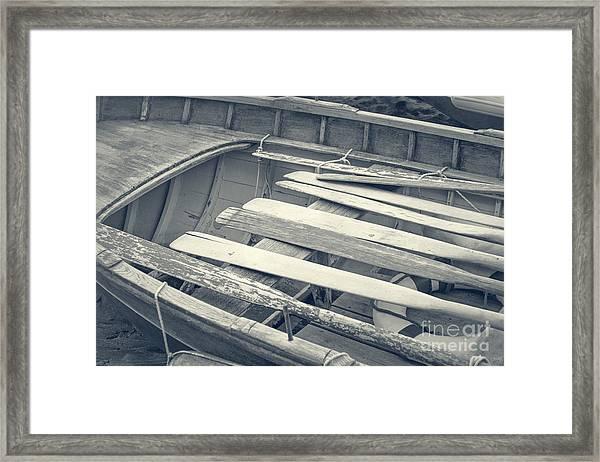 Oars Framed Print