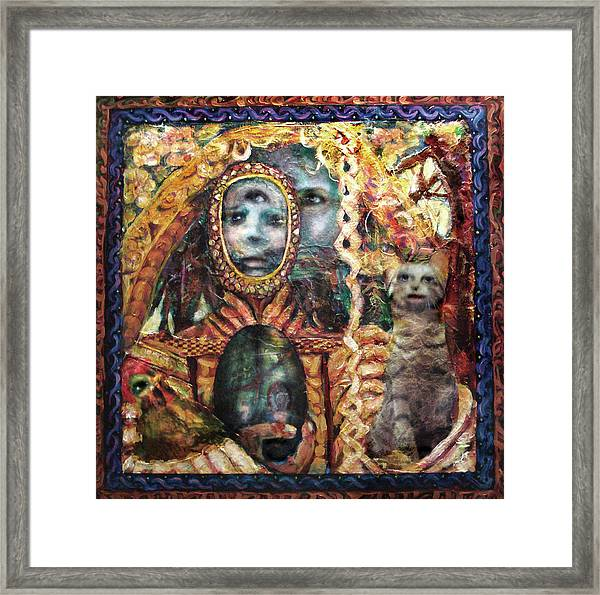 Obatala Prepares For His Journey Framed Print