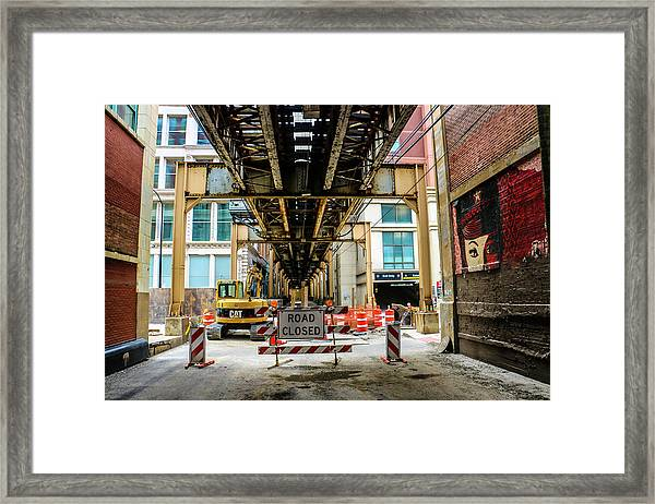 Obey The Signs Framed Print