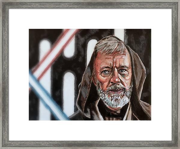 Obi-wan Kenobi's Last Stand Framed Print