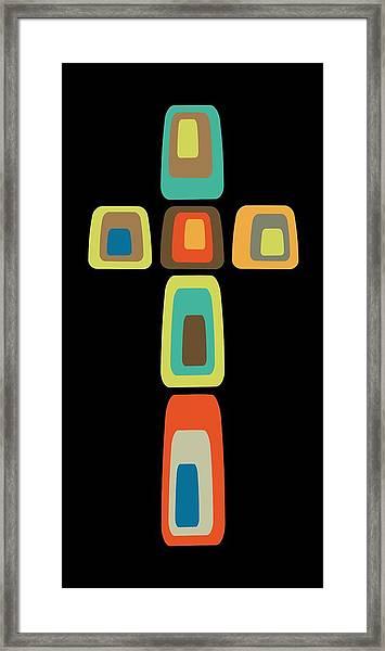 Oblong Cross Framed Print