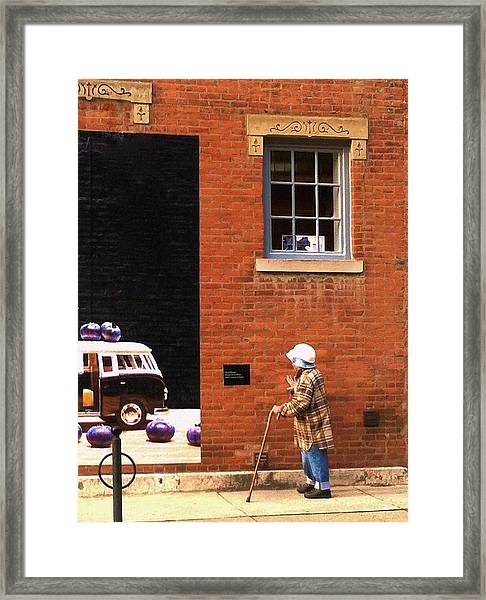 Observing Building Art Framed Print