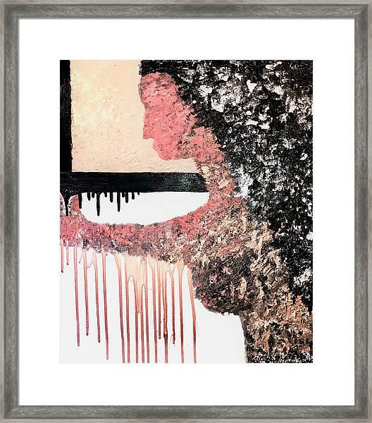 Obsidian Blush Framed Print