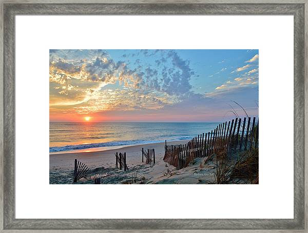 Obx Sunrise September 7 Framed Print