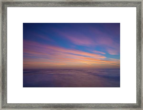 Ocean And Beyond Framed Print