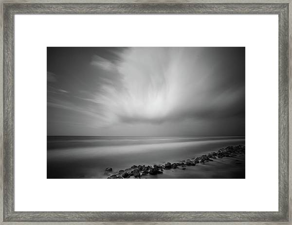 Ocean And Clouds Framed Print