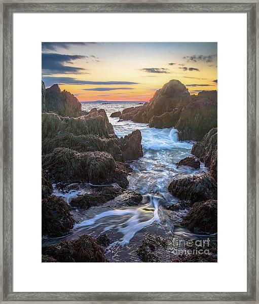 Ocean Ave. Seascape Framed Print by Benjamin Williamson