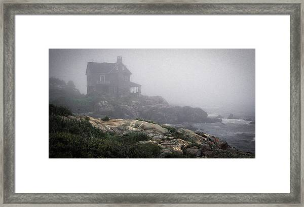 Framed Print featuring the photograph Ocean Avenue House In Fog by Samuel M Purvis III