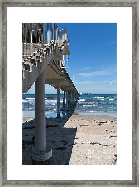Ocean Beach Pier Stairs Framed Print