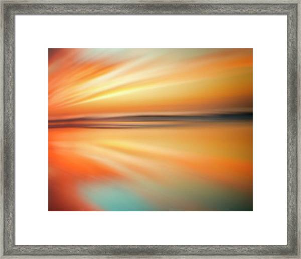 Ocean Beach Sunset Abstract Framed Print