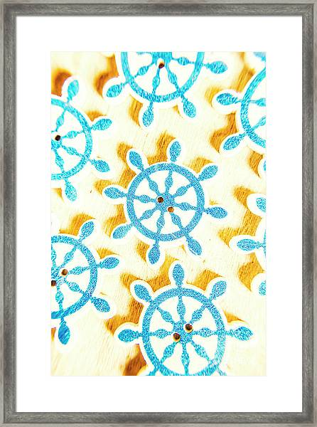 Ocean Circles Framed Print