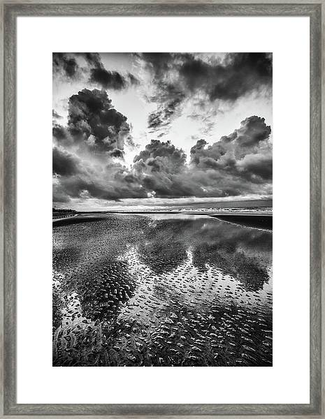 Ocean Clouds Reflection Framed Print