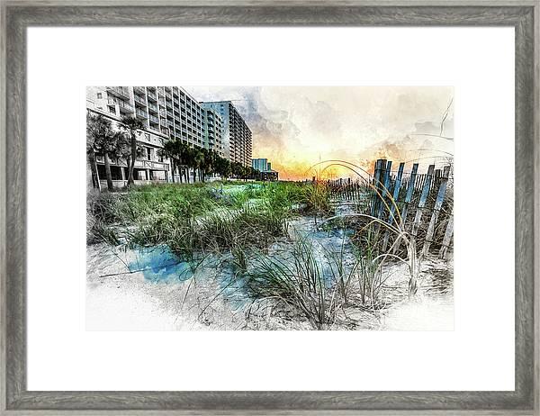 Ocean Drive Easter Sunrise Framed Print