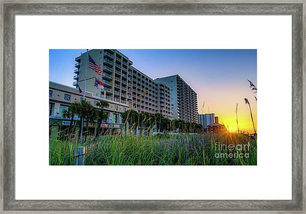 Ocean Drive Sunrise North Myrtle Beach Framed Print