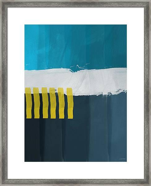Ocean Front Walk 2- Art By Linda Woods Framed Print